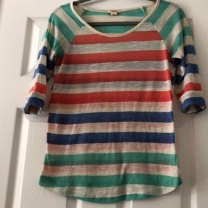 A multi-colored stripped shirt